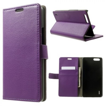 Etui for Huawei Honor 6 Classic Lychee Lilla