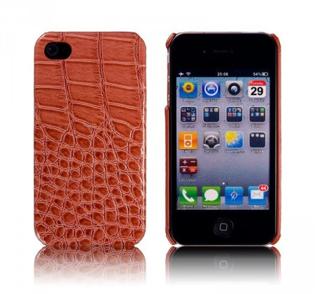 Hardcase Iphone 4/4S Croco Brun