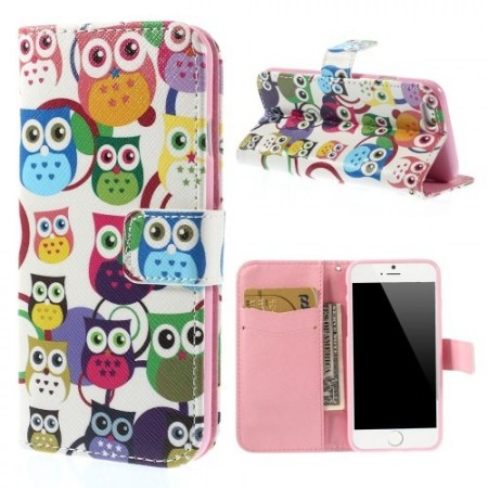 Etui m/kortlomme for iPhone 6 Ugle 4