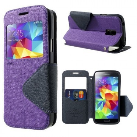 Etui for Galaxy S5 Mini Roar m/Skjermvindu Lilla