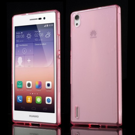Deksel for Huawei Ascend P7 Rosa