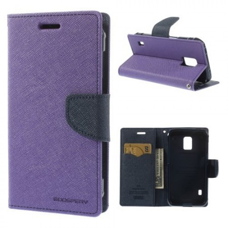 Etui m/kortlommer for Galaxy S5 Active Mercury Lilla