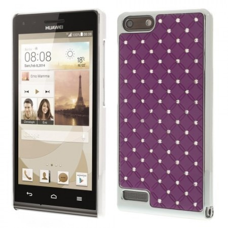 Deksel for Huawei Ascend G6 Diamant Lilla