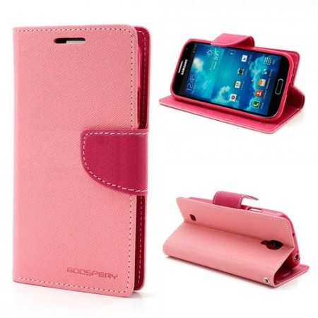 Lommebok for Samsung Galaxy S4 Mercury Lys Rosa