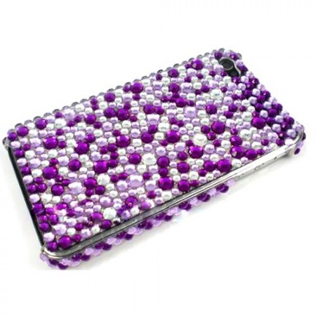 Deksel for Iphone 4/4S Bling Lilla/Blank