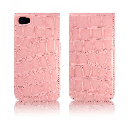 Flipp Etui iPhone 4/4S Croco Rosa