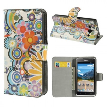 Etui for Huawei Ascend Y530 Lommebok Flower Power 1