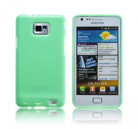 Deksel for Galaxy S2 Mint Grønn