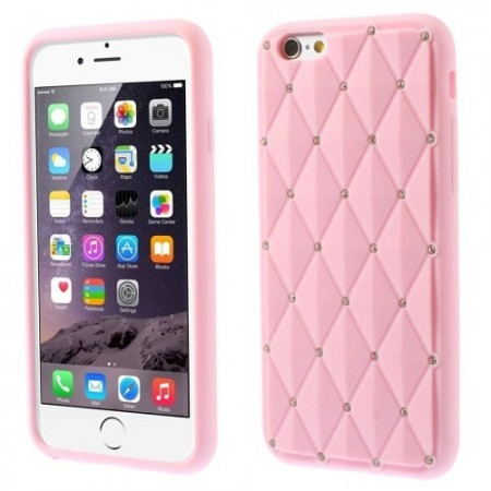 Deksel for iPhone 6 Diamant Rosa