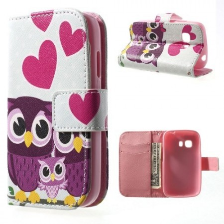Etui m/kortlommer for Galaxy Young 2 Ugle 7