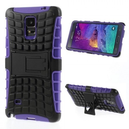 Deksel for Galaxy Note 4 Heavy-Duty Lilla