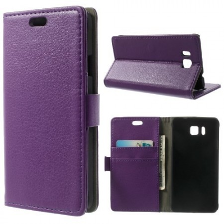 Etui for Galaxy Alpha Classic Lilla m/kortlommer