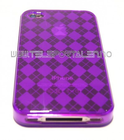 Gel Case for Iphone 4  Ruter Lilla