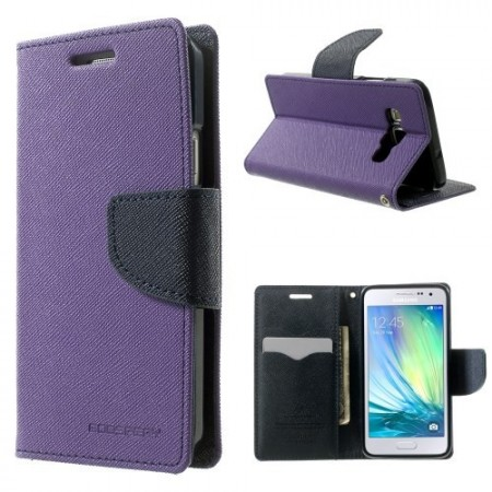 Etui m/kortlommer for Galaxy A3 Mercury Lilla