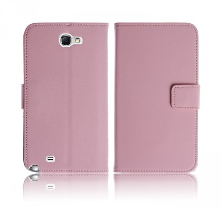 Lommebok for Samsung Note 2 Classic Rosa