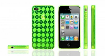 Gel Case for Iphone 4  Ruter Lime