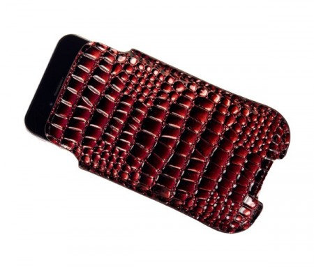 Etui for iPhone 4/4S Croco Rød