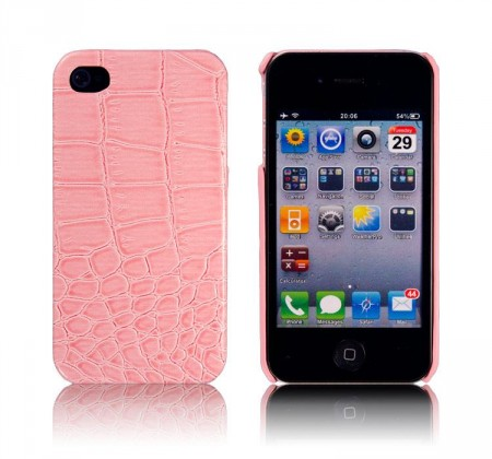 Hardcase Iphone 4/4S Croco Rosa