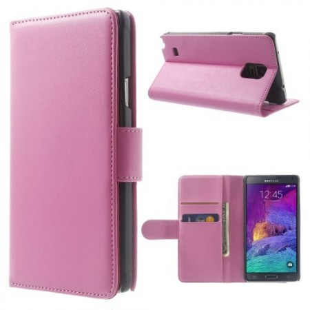 Etui for Galaxy Note 4 Smooth Lys Rosa
