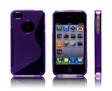 Deksel for iPhone 4 & 4S S-Line Lilla