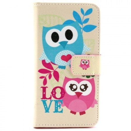 Lommebok Etui for Galaxy S6 Ugle