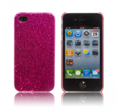 Glittercase for iPhone 4/4S Mørk Rosa