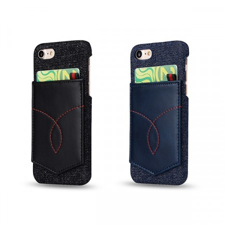 iPhone 7 / iPhone 8 Deksel Denim Pocket