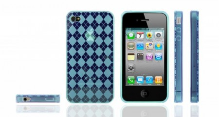 Gel Case for Iphone 4  Ruter Turkis
