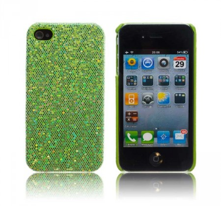 Glittercase for iPhone 4/4S Grønn