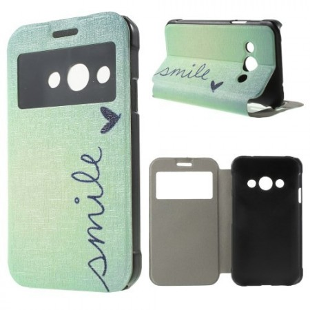 Slimbook Etui m/skjermvindu for Galaxy Xcover 3 Smile