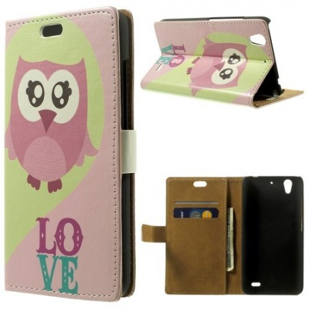 Etui for Huawei Ascend G630 Lommebok Ugle 1