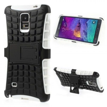 Deksel for Galaxy Note 4 Heavy-Duty Hvit