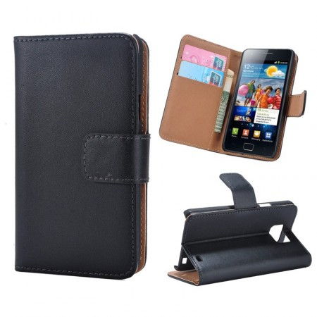 Etui m/kortlommer for Galaxy S2 Genuine