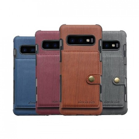 Galaxy S10 Deksel Wallet Brushed