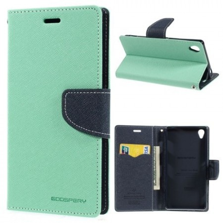 Lommebok Etui for Sony Xperia Z3 Mercury Mint Grønn