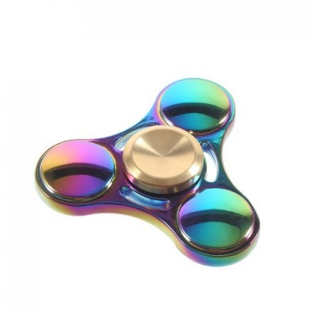 Fidget Spinner Collector Tri Rainbow Titanium