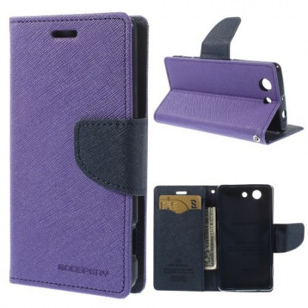 Lommebok Etui for Sony Xperia Z3 Compact  Mercury Lilla