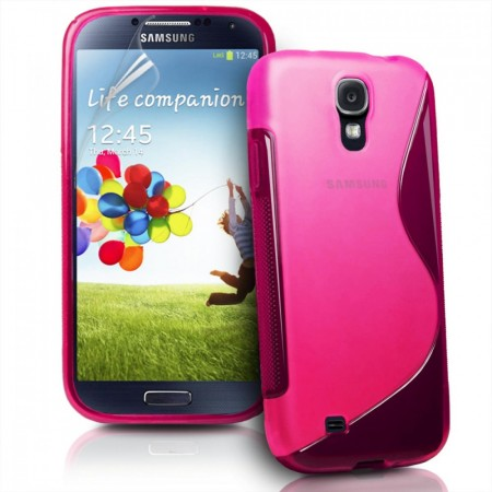 S-line Deksel for Samsung Galaxy S4 Rosa