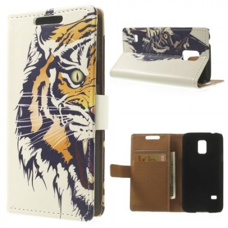Etui for Galaxy S5 Mini m/kortlommer Tiger