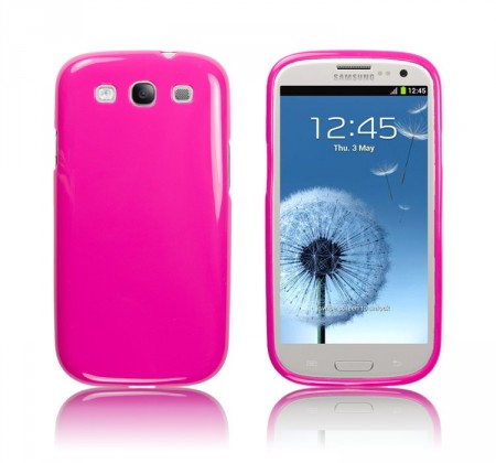 Deksel for Galaxy S3 Jelly Mørk Rosa