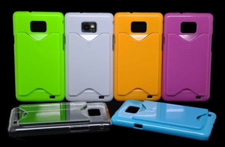 Deksel for Samsung Galaxy S2 med kort holder