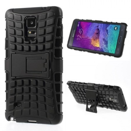 Deksel for Galaxy Note 4 Heavy-Duty Svart