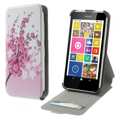 Etui for Lumia 630 Flipp Blomster & Bier