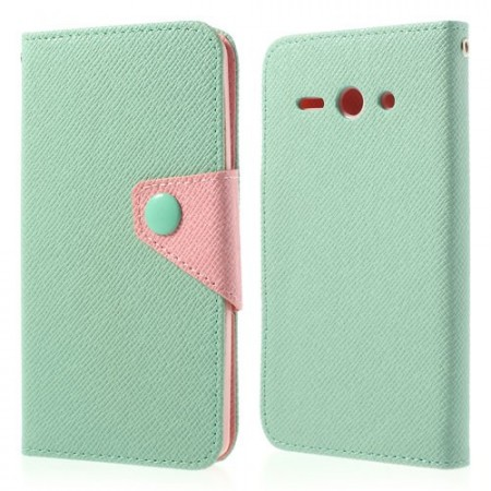 Etui Lommebok for Huawei Ascend Y530 Mint/Rosa