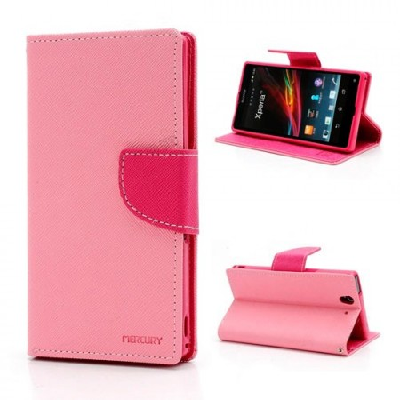 Lommebok Etui for Sony Xperia Z1 Compact Mercury Lys Rosa