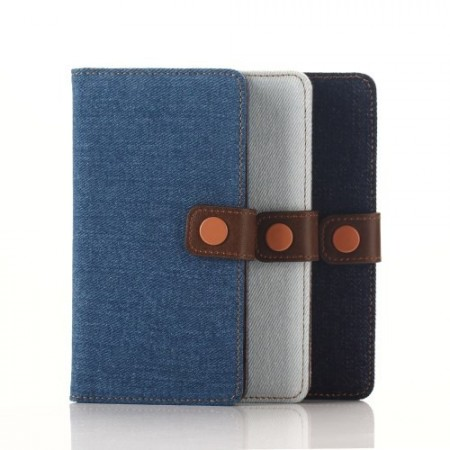 Lommebok Etui for Sony Xperia M4 Aqua Denim