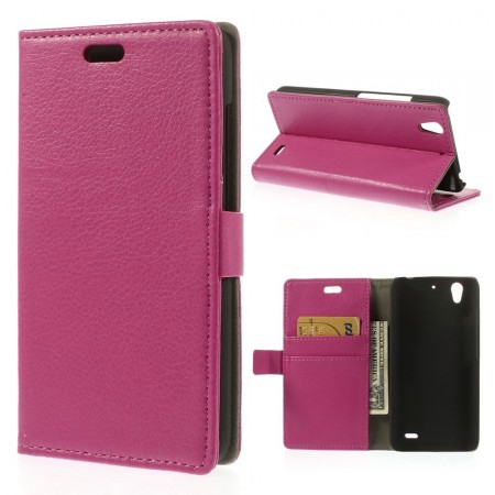 Etui for Huawei Ascend G630 Lommebok Classic Rosa
