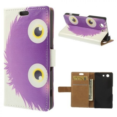 Lommebok Etui for Sony Xperia Z3 Compact Happy Monster 4