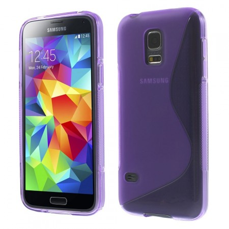 Deksel for Samsung Galaxy S5 Mini S-line Lilla