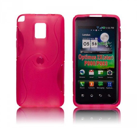 Deksel for LG Optimus 2x Swirl Rosa